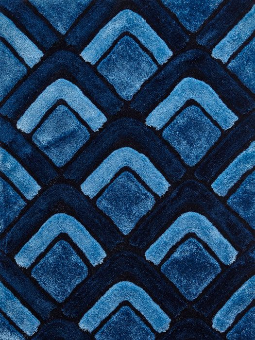 Le House Nh 8199 Dark Blue Rugs From 99 Free Uk Delivery Shaggy Rug Is Handtufted With Acr In