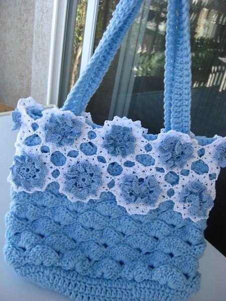 Crochet bag - blue