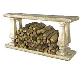 Love This Stone Firewood Console Table.