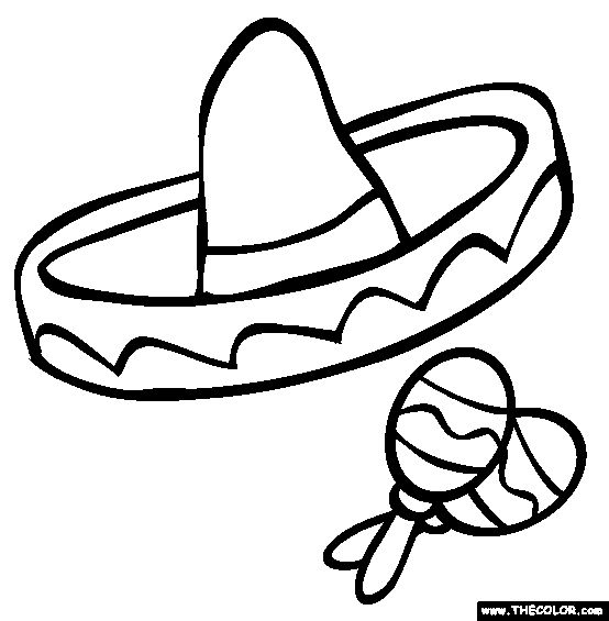 maracas coloring pages kids - photo#25