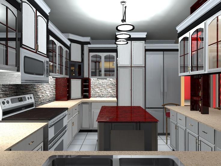 kitchen design rendering done by roberto de jesus perez in turbofloorplan 3d home landscape. Black Bedroom Furniture Sets. Home Design Ideas