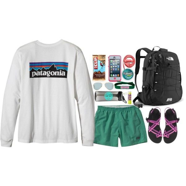 A fashion look from January 2014 featuring Patagonia, platform sandals and mesh bag. Browse and shop related looks.