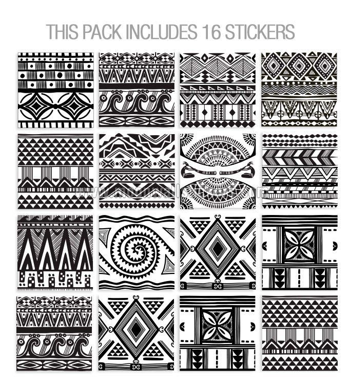 wall-tile-stickers-indian-aztec-patterns