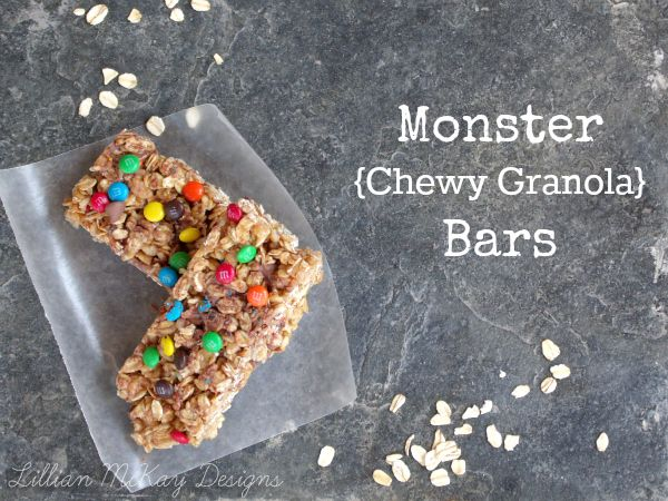 Monster Chewy Granola Bars   My Recipe Exchange ~ Let's Share ...