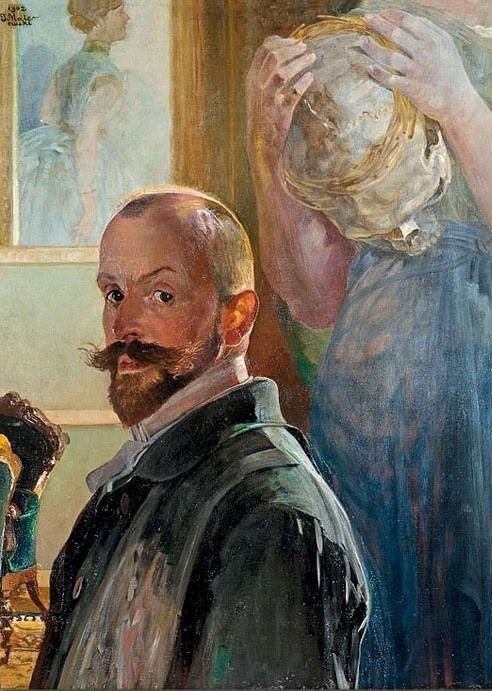 Jacek Malczewski (Pologne, 1854-1929) – Self-Portrait with Death (1902) Collection privée