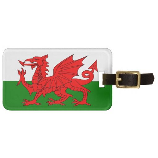 Wales flag luggage tag - these are great for tour operators to give to their tourists as gifts. Makes all luggage easy to locate and  tourists will remember you.