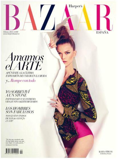 .: Colors Palette, Cat Eye, Bazaars Spain, Harpers Bazaars, Colors Combinations, Bazaars Magazines, Fashion Editorial, Africans Prints, Kasia Struss