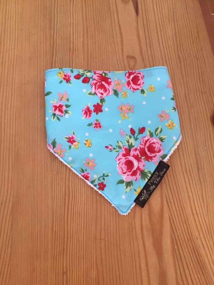 Vintage Style Blue Floral Baby Dribble Bib, dribble bandana, baby bandana, baby shower gift, dribble cloth, baby girl gift, new mum gift by PeggyByTheSeaCo on Etsy https://www.etsy.com/uk/listing/475458014/vintage-style-blue-floral-baby-dribble