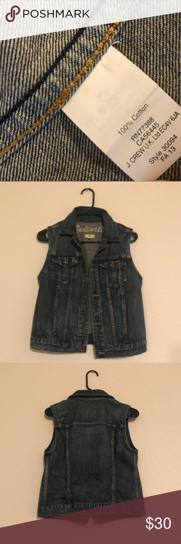 Madewell sleeveless jean jacket Women's madewell sleeveless jean jacket. Perfect condition. Comment if you have a question, and feel free to make an offer! :) Madewell Jackets & Coats Jean Jackets