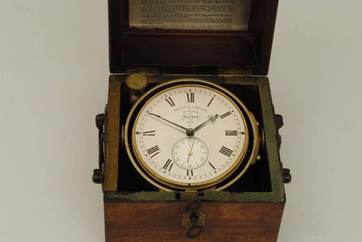 Arnold and Dent Marine Chronometer   From a unique collection of antique and modern nautical objects at https://www.1stdibs.com/furniture/more-furniture-collectibles/nautical-objects/