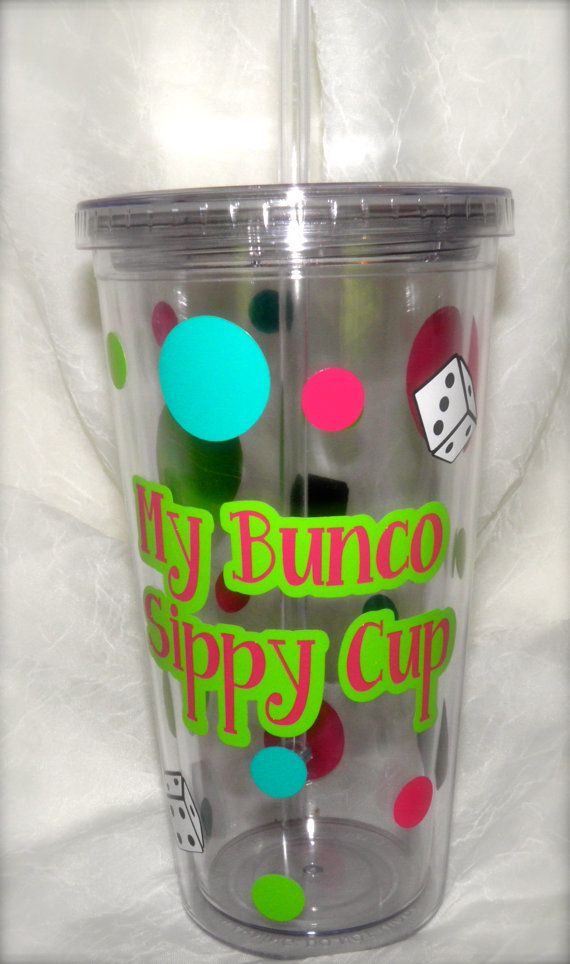 Hey, I found this really awesome Etsy listing at http://www.etsy.com/listing/154741098/bunco-tumblers