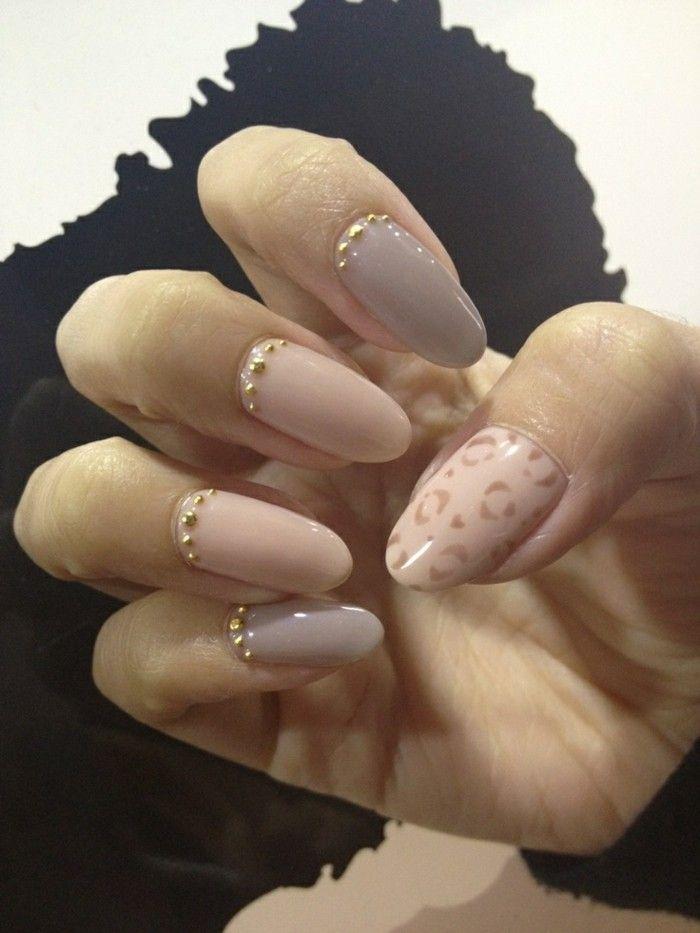 ongles décorés deco ongle gel, nos idees pour vos ongles beiges