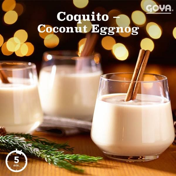 Nothing says Christmas like a yummy glass of Coconut Eggnog or Coquito as we like to call it!