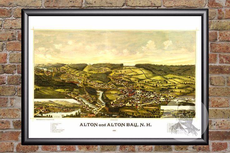 Alton, NH Historical Map - 1888