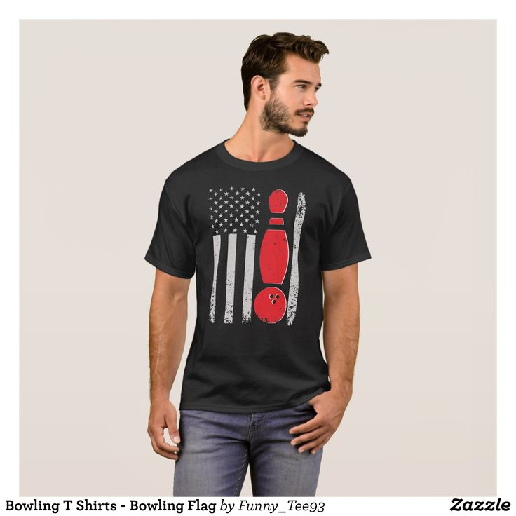 Bowling T Shirts - Bowling Flag - Classic Relaxed T-Shirts By Talented Fashion & Graphic Designers - #shirts #tshirts #mensfashion #apparel #shopping #bargain #sale #outfit #stylish #cool #graphicdesign #trendy #fashion #design #fashiondesign #designer #fashiondesigner #style