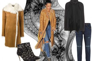 UNIVERSO PARALLELO: Il cappotto shearling Get the look Rihanna