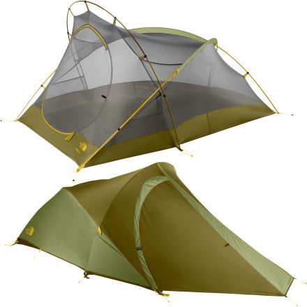 Amazing, amazing tent! The North Face Tadpole 23: 2-person 3-season tent.  5 lbs- so light!