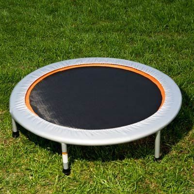 A trampoline workout is great cardio exercise. Did you know that 10 minutes on a trampoline is equivalent to 30 minutes on the treadmill? Watch this video of a quick trampoline workout to learn how to bounce off the pounds in less time.   Health.com