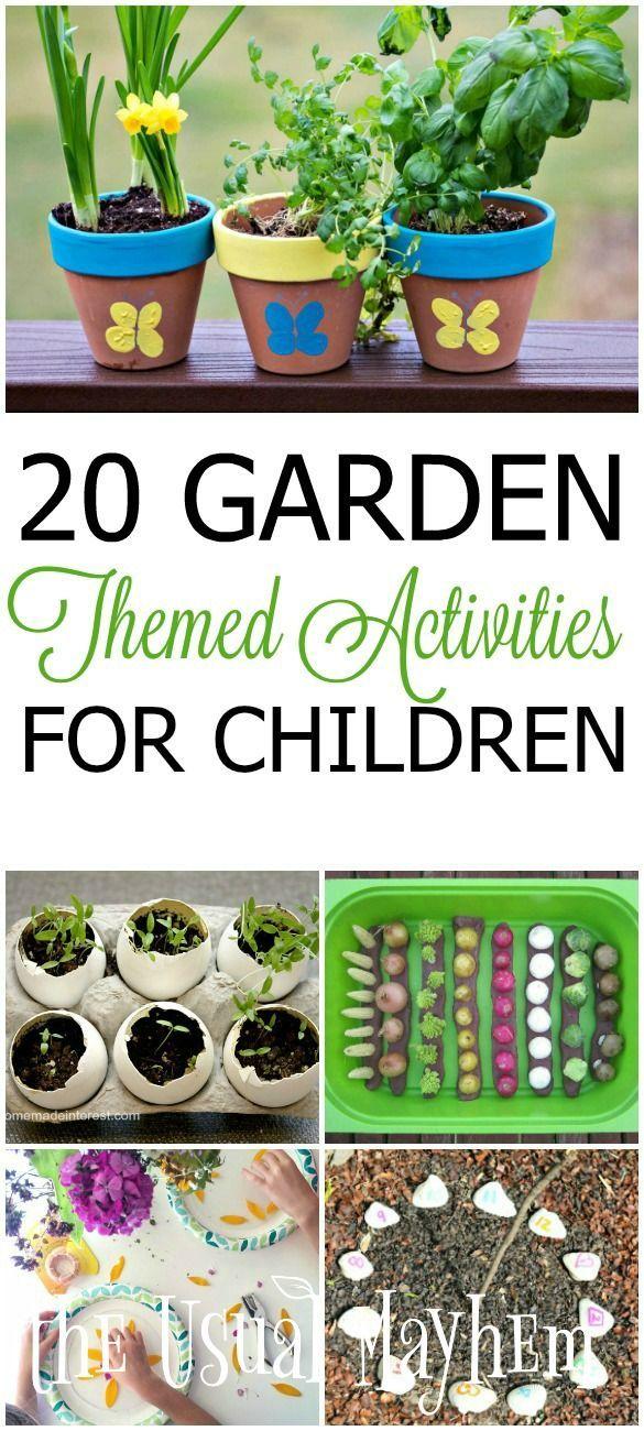 garden themed activities for children P