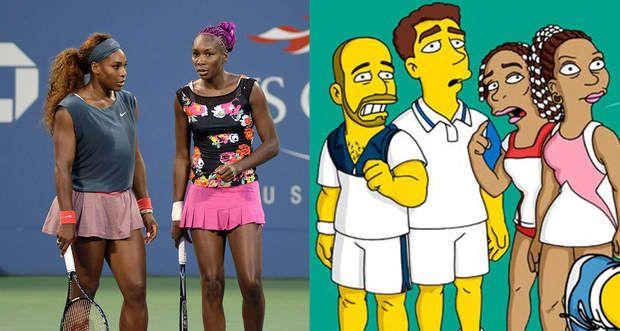 Venus et Serena Williams présentes dans Les Simpson pour un match de tennis avec Marge et Homer
