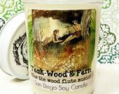 Teak-Wood & Fern scented soy candle (cue the wood flute music)