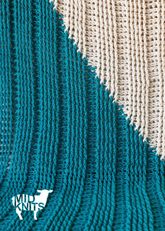 DIY Crochet PATTERN  Triangle Color Blocked Throw by Midknits