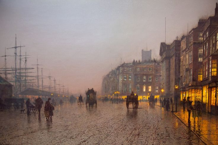 John Atkinson Grimshaw - Liverpool from Wapping (1885)