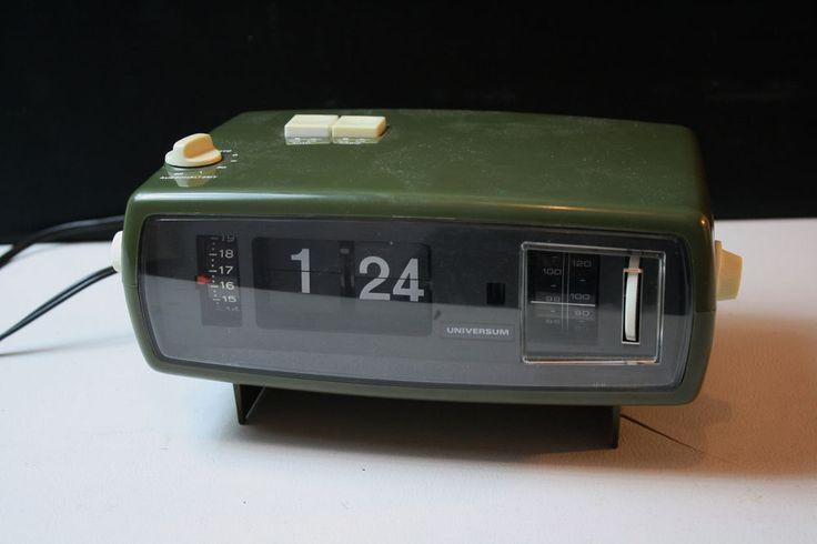 Klappzahlenwecker Universum Quelle International Clock Radio Orig. 70er Vintage