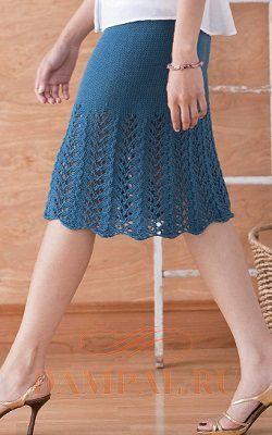 Вязаная юбка «Солнцестояние» от дизайнера Cecily Glowik MacDjnald (описание)