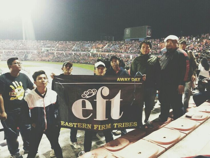 A piesces of great crew in derby's stadium in JOHORE... we ain't run or hide!