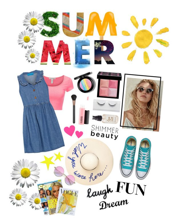 """""""Summer Denim"""" by ordinary-fashion on Polyvore featuring moda, Eugenia Kim, M.i.h Jeans, Givenchy, Olivine, MAC Cosmetics, Art for Life ve Dot & Bo"""