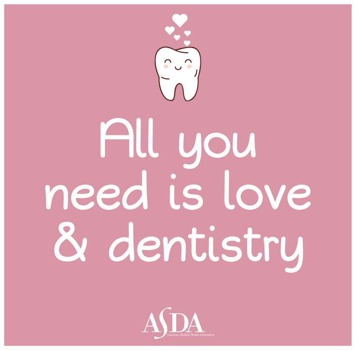 Cute quote from The American Student Dental Association. ASDAnet.org.