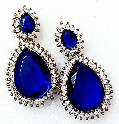 Indian Bollywood Jewelry Earrings Ethnic Bridal Wedding Party Gold Traditional