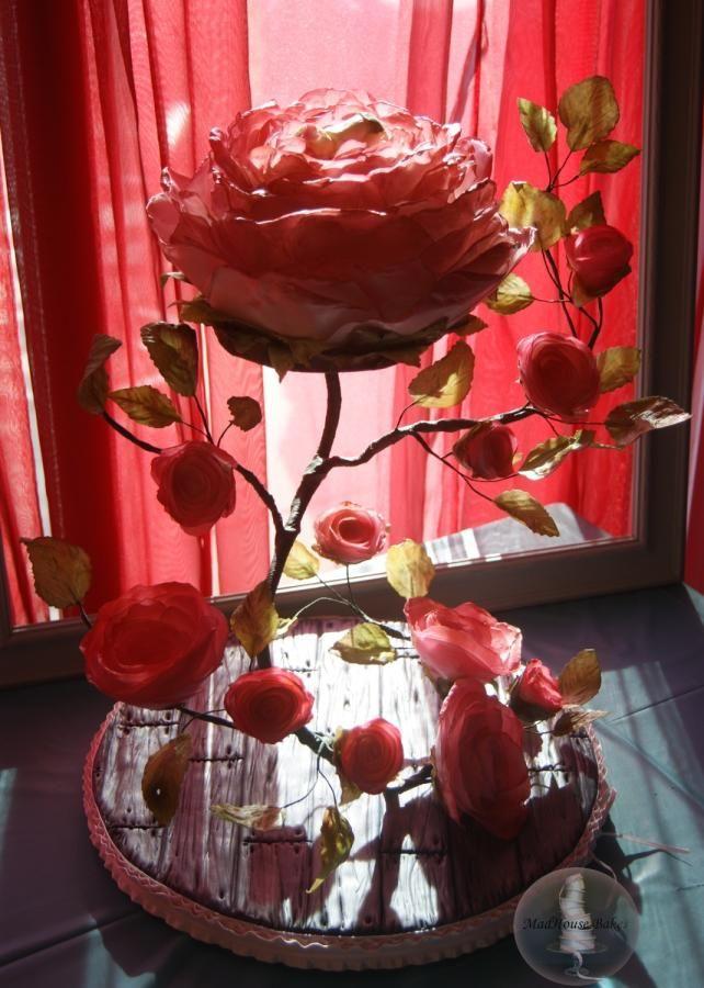 My Vining Rose Cake for Bella - Cake by Tonya Alvey