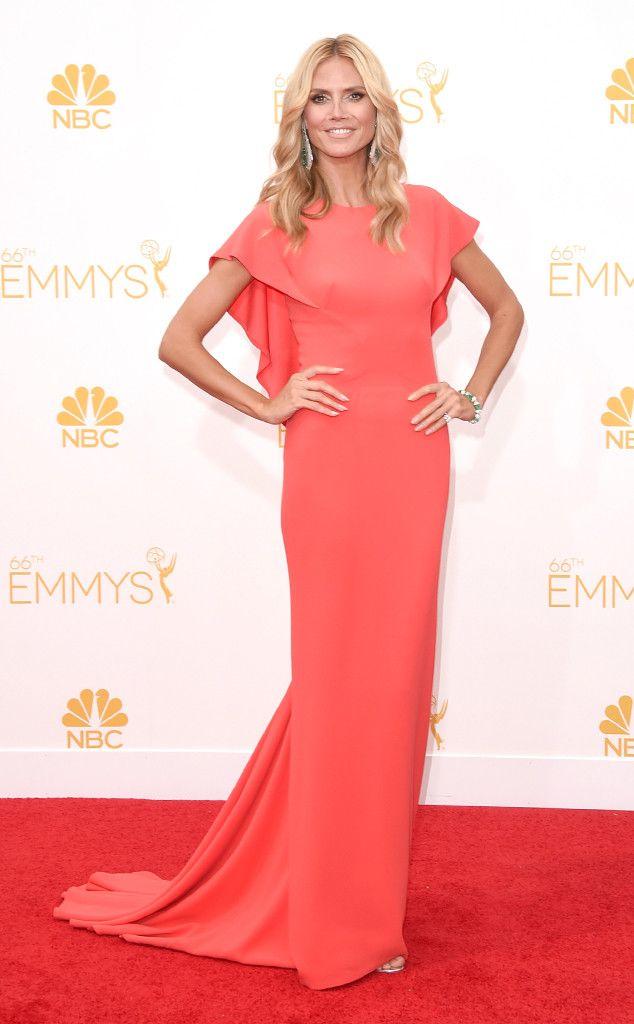 Heidi Klum in Zac Posen from 2014 Emmys: Red Carpet Arrivals | E! Online