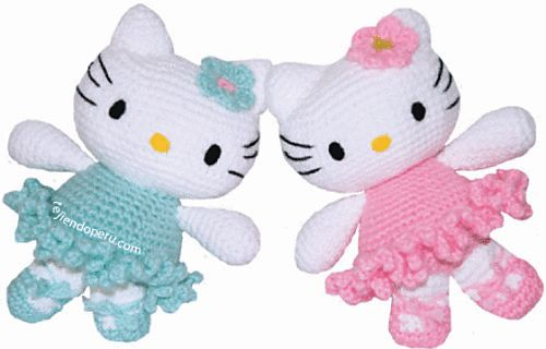 Free pattern Ravelry: Hello Kitty Ballerina Amigurumi pattern by Mistys Designs