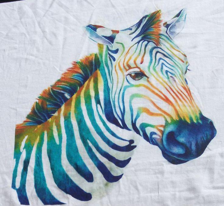 colorful zebra  digital printing skype:angel.wang82
