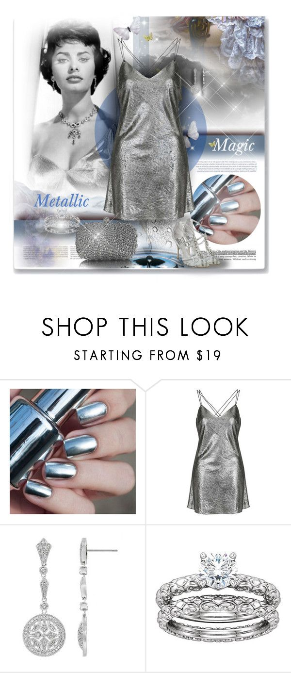 """Metallic Magic"" by angelflair ❤ liked on Polyvore featuring Public Opinion, Topshop and Oris"