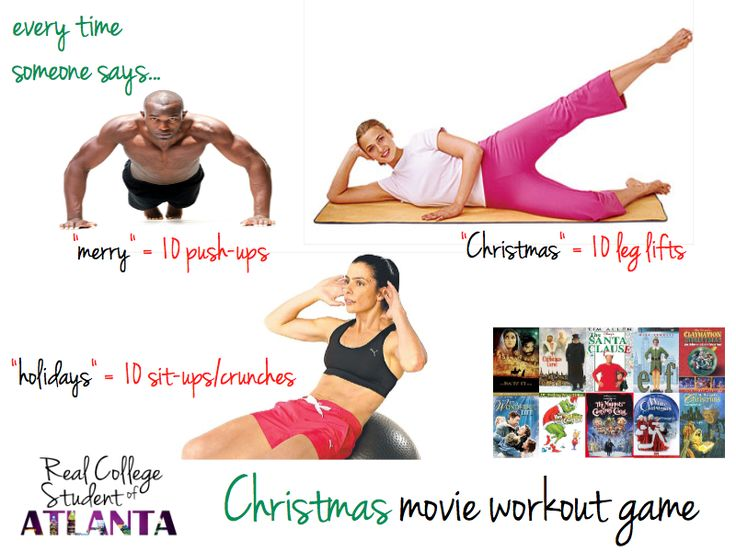 Christmas movie work out game!