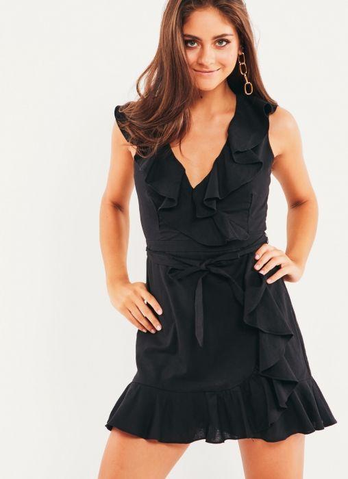 Regan Wrap Dress - Black  (size M)  #Peppermayo #Fashion #Wishlist