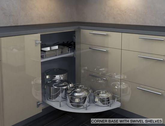 Corner Base With Swivel Shelves
