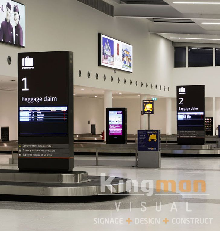 Perth Airport, Digital Signage, Baggage collection area