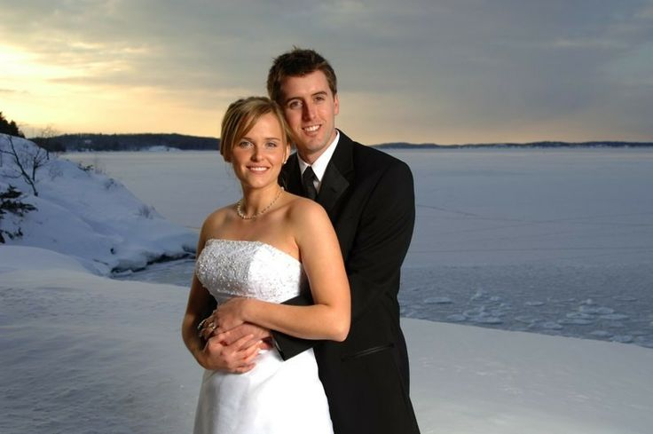 A beautiful wedding in the winter season at the Charles W. Stockey Centre in Parry Sound, ON.