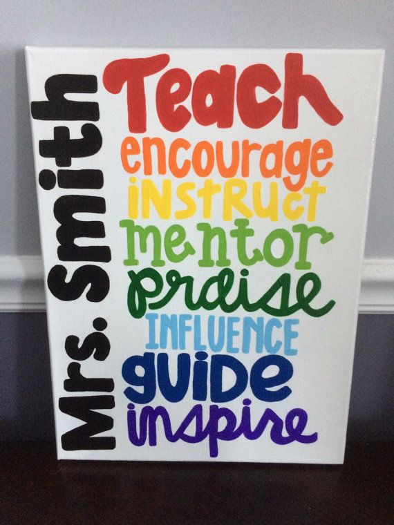Personalized Teacher Appreciation canvas quote by 4thSisterCanvas on Etsy