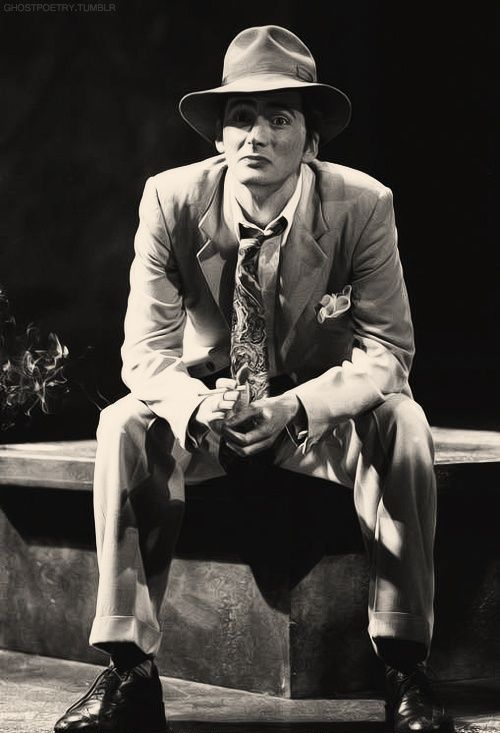 "David Tennant on stage as ""Antipholus of Syracuse"" in RSC's 2000 production of The Comedy Of Errors."