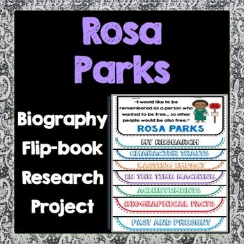 This fun, interactive flippable is a great tool to study historical figures!  Featuring the life of Rosa Parks, students will learn her story, her accomplishments, key character traits, and her impact on our world through a combination of writing and illustration.