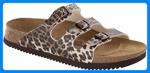 Birkenstock Florida Damen Pantoletten Leopard Classic Dark Brown, EU 36 - Hausschuhe für frauen (*Partner-Link)
