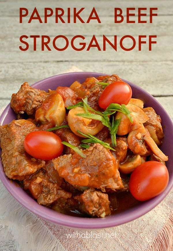 Spice up your usual Stroganoff and make this delicious Paprika Beef Stroganoff instead of the traditional Stroganoff tonight !