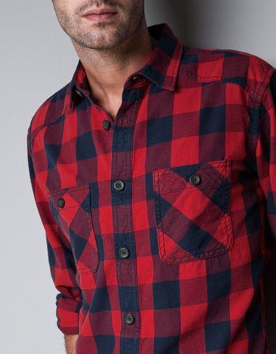 CAMISA FRANELA CUADROS - Camisas - Hombre - ZARA Panamá