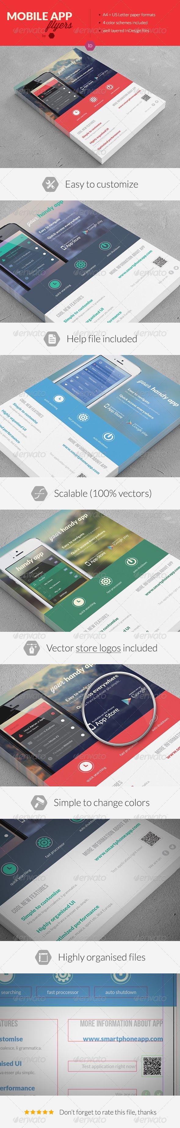 Mobile Application Promotion Flyers / Phone App - Commerce Flyers
